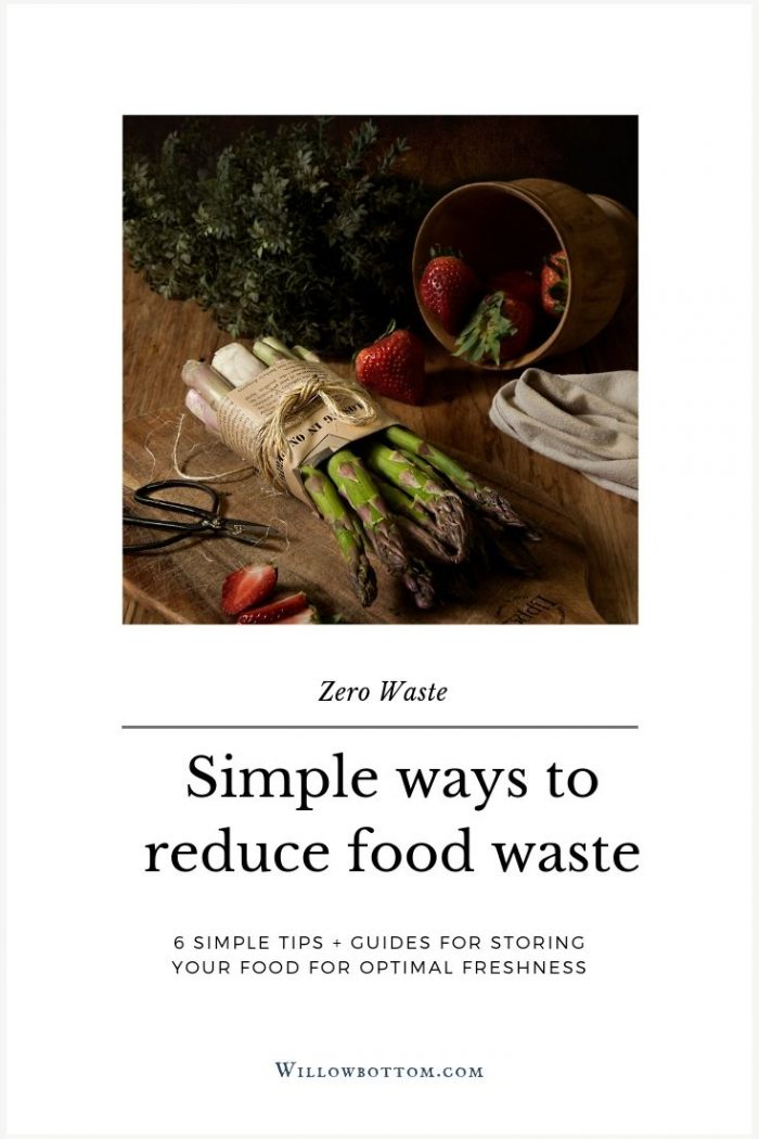 Pin This! Simple ways to reduce food waste - willowbottom.com